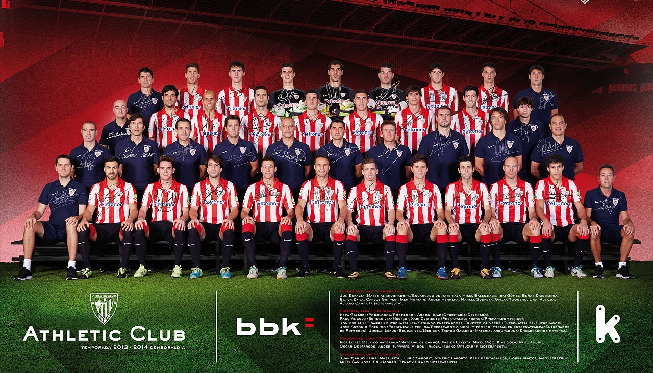 Poster del Athletic Club en la temporada 2013-2014